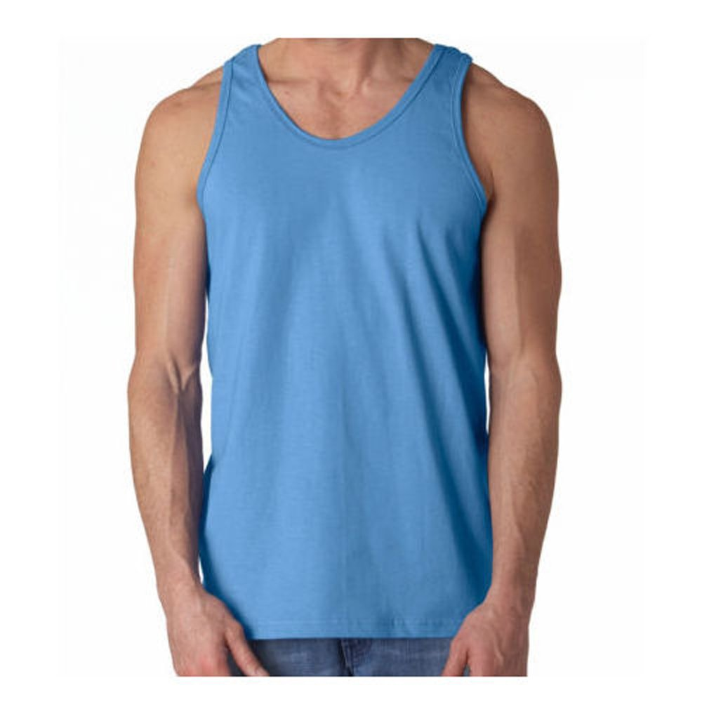 BY NEKI Mens Vest 100% Cotton Gym Training Tank TOP T Shirt Sleeveless Summer Colours Single, 3 Pack, 6 Pack Large Sizes Available S M L XL 2XL 3XL 4XL 5XL