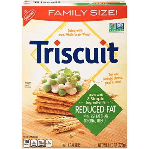 Triscuit Reduced Fat Crackers - Family Size, Non-GMO, 11.5 Ounce