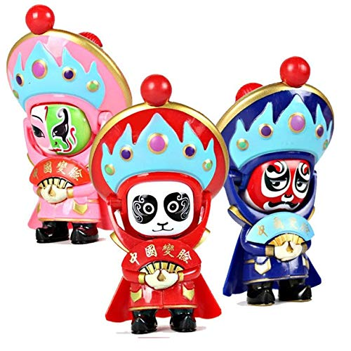 China Traditional Opera Fast mask-Changing Doll Pendant Charm for Phone Backpack - Mask Opera Chinese