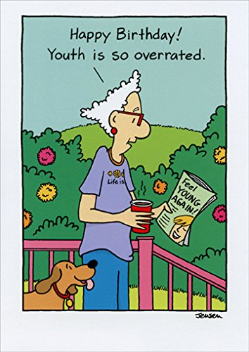 Amazon Youth Is Overrated Funny Birthday Card Kitchen Dining