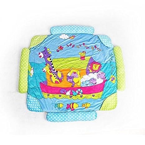 Zinsale 4 en 1 Grande Reci/én nacido Beb/é Estera de juego Gimnasio para bebes Alfombras de juego Estera de arrastre acolchada con Centro de actividades sonido y juguetes educativos. Abeja m/úsica