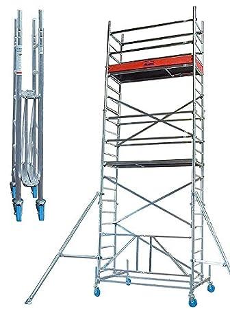 Sehr Rollgerüste Faltgerüst (Alu), Arbeitshöhe 7,8 m, Standhöhe 5,8 m HW79
