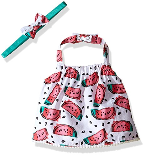 Rosie Pope Little Girls Watermelon Crop Halter Top, Azalea Pink, 24 Months