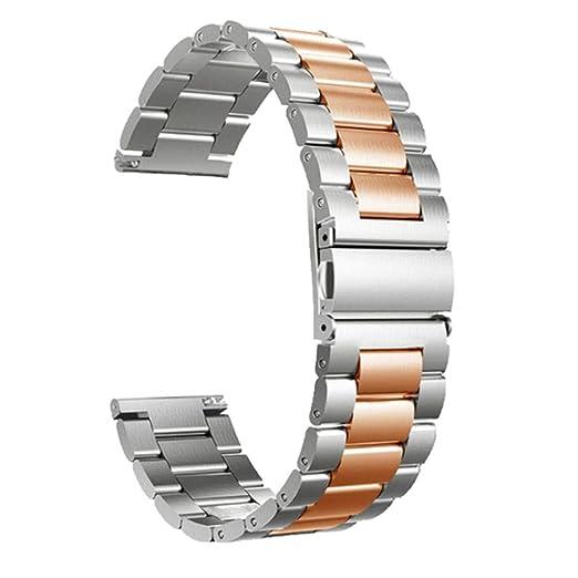 SHSH Correa de repuesto de acero inoxidable para reloj ...