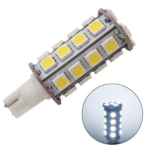 GRV T10 Wedge 921 194 30-5050 SMD LED Bulb Lamp Super Bright Cool White Dc 12v Pack of 10