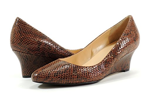 Cole Haan Women's Catalina Wedge (Brown Snake Print, 8.5) (Cole Haan Catalina compare prices)