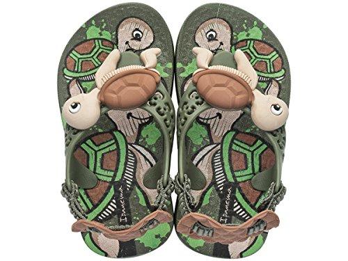 Ipanema Sea Baby Turtle Infant Sandals-Green-6 (Turtle Flip Flops)