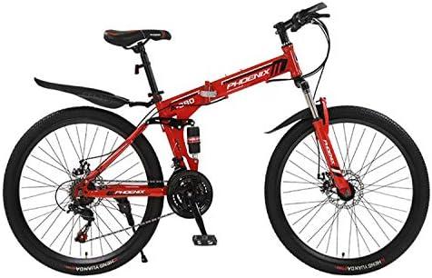 Wj Bicicleta de montaña Todoterreno para Adultos Bicicleta Plegable de 26/24 Pulgadas con Doble amortiguación, 21 velocidades / 24 velocidades / 27 velocidades: Amazon.es: Hogar