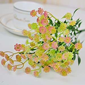 FYYDNZA Artificial Flower Bouquet Home Wedding Table Party Decoration Fake Gypsophila Blue Purple Orange 36