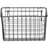 "Spectrum Diversified Pegboard & Wall Mount Storage Basket, 10"" x 5"" x 7"", Industrial Gray"