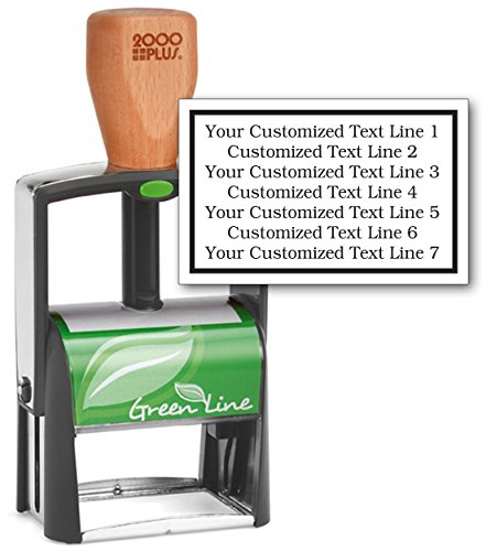 Heavy Duty Self Inking Stamp - 2000 PLUS Green Line Unit - Extra Large Size. 7-Line Stamp - Customize Online (Heavy Stamp Inking Self Duty)