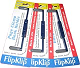 FlipKlip Very Cool Book Holders; 3-Pak for Kitchen or Cookbooks