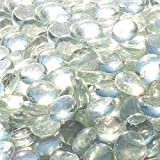 Blue Ridge Brand&Trade; Clear Reflective Fire Glass Beads - 10-Pound Professional Grade Fire Pit Glass - 3/4'' Reflective Glass for Fire Pit and Landscaping