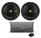 2) New Kicker 44CWCS104 10' 1000W Car Audio Power Subwoofers + 1600W Amplifier