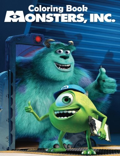 Monsters, Inc Coloring Book: Coloring Book for Kids and Adults 50 illustrations (Perfect for Children Ages 3-5, 6-8, 8-12+)