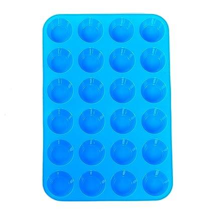 24 Unidades, Moldes de silicona para mini magdalenas / pasteles / jabones / galletas,