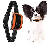 MASBRILL Bark Collar for Small Medium Large Dogs, Safe Stop Barking Devices, 2018 Harmless and Human Training Control Dog Collar (Orange(5-55lbs))