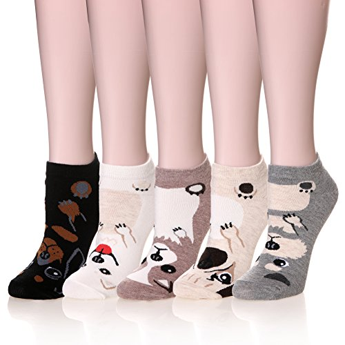 Color City Womens Novelty Cute Funny Ankle Socks - Cartoon Animal No