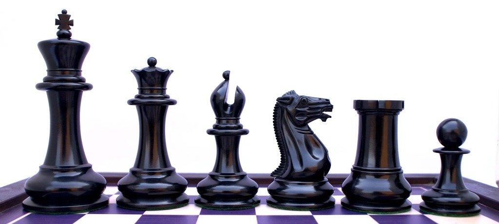 Jaques 1850-55 Club Size Reproduction Premium Staunton 4.4'' Chess Set
