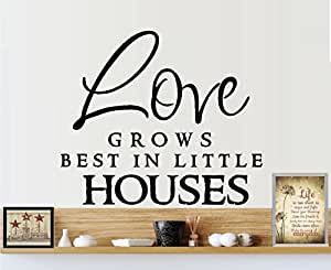 Love grows best in little houses wall decal for Best home decor amazon