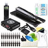Dragonhawk Cartridge Tattoo Machine Kit Pen Rotary Tattoo Machine Black Tattoo Ink Needles Power Supply D1013-5 (V2)