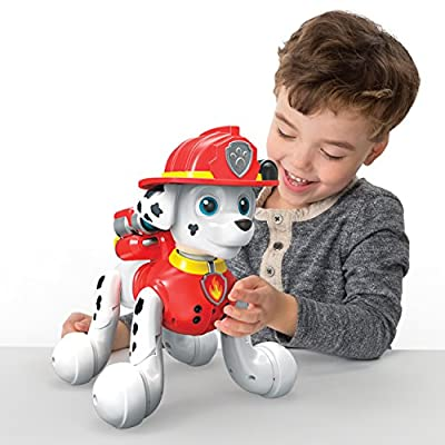 Paw Patrol, Zoomer Marshall, Interactive Pup with Missions, Sounds and Phrases, by Spin Master: Toys & Games