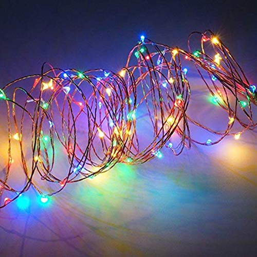 Solar Mason Jar Lid Lights LED String Lights Modes Outdoor Solar Fairy Lighting Waterproof Decorative Lights for Patio/Parties (Colorful)