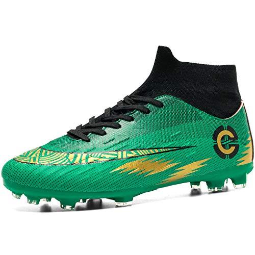 Donbest Botas de Fútbol para Hombre Spike Zapatos de fútbol Profesionales Aire Libre Calzado de Fútbol Atletismo…