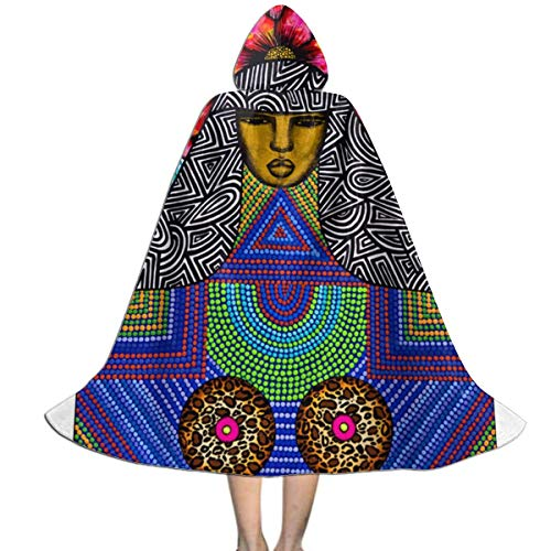 Hooded Cloak Cape African American Art Unique Party Vampires Cosplay for Kids Girls Boys