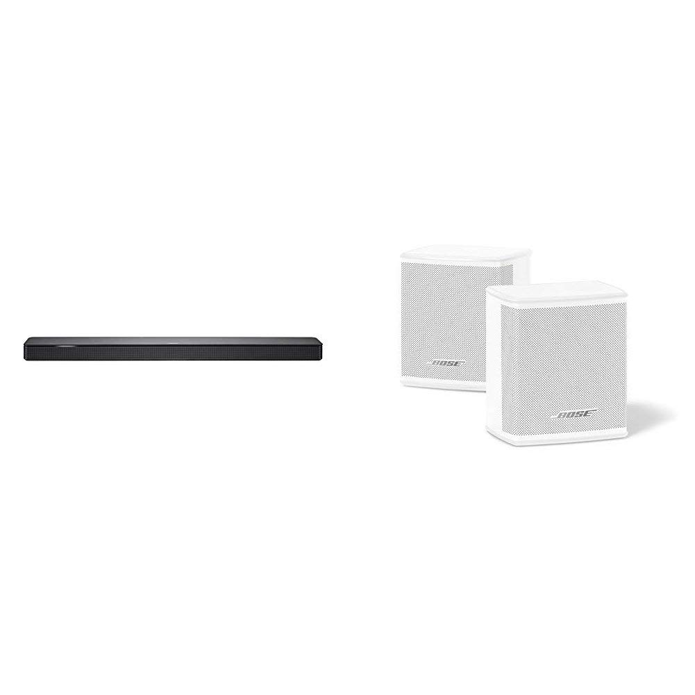 Bose - Barra de sonido 500, Bluetooth y Wifi, negro + Surround Speakers, blanco