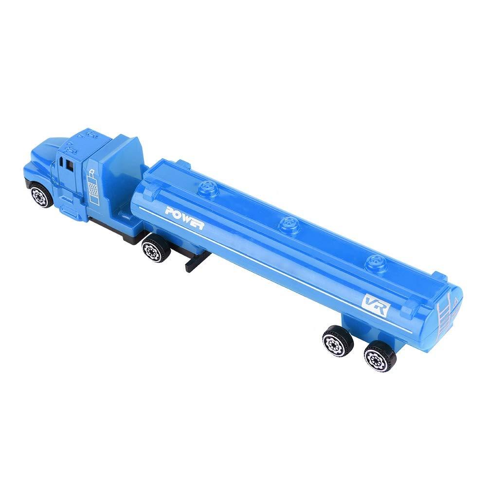 Tnfeeon 1 32 Simulazione Camion Cisterna Modello Mini Lega Trasporto Auto Cisterna Veicolo Ingegneria Bambini Car Gioca Compleanno Natale Regalo per 2 3 4 5 6 Anni Ragazzo Ragazza Blu