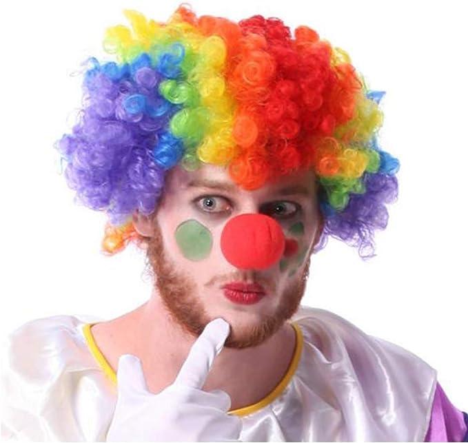 Elegante Verde Riccia Afro Parrucca Clown Anni 70 Discoteca Stile Unisex Fancy Dress Party