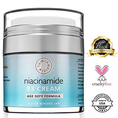 5% Niacinamide Vitamin B3 Cream Serum – Anti-Aging For Face & Neck. 1.7oz. Use Morning & Night. Firms & Renews Skin…