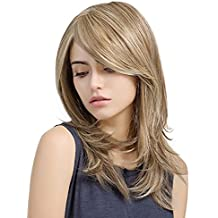 Synthetic Hair Wigs Long Body Wave Full Wigs Real Wigs Rose Lace Wig Blonde Color Natural Looking Heat Resistant Hair Replacement Wigs 20 Inches