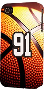 Baseball Sports Fan Player Number 91 Plastic Snap On Decorative iPhone 6 plus Case