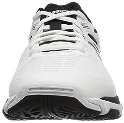 ASICS Men\'s Gel-Netburner Ballistic Volleyball Shoe, White/Black/Silver, 13 M US