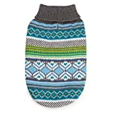Northern Lights Dog Sweaters Holiday-And Color Blue Or Raspberry