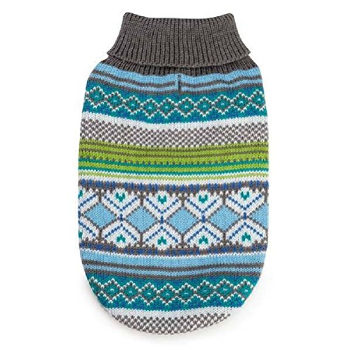 Northern Lights Dog Sweaters Holiday-And Color Blue Or Raspberry by Defonia Petsupplies