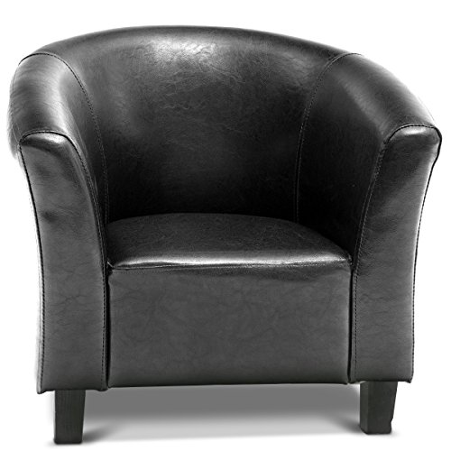 Costzon Kids Sofa Tub Chair Couch Children Living Room Toddler Furniture (PU Leather, Black) by Costzon (Image #6)'