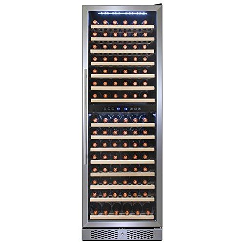 FIREBIRD 160 Bottles Single Zone Stainless Steel Door Touch Control Freestanding Wine Cooler Chiller Refrigerator w/ Built-in (160 Bottle Wine Cooler)