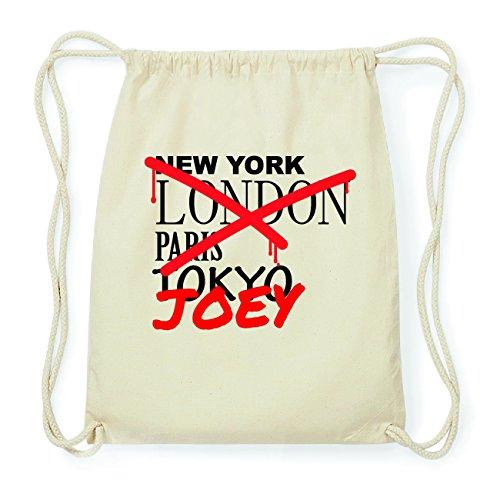 JOllify JOEY Hipster Turnbeutel Tasche Rucksack aus Baumwolle - Farbe: natur Design: Grafitti BS0HMCmn