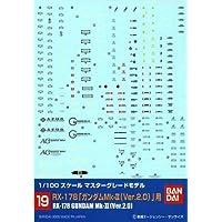 # 19 Calcomanía de Gundam - Gundam MK II 2.0 1/100 MG