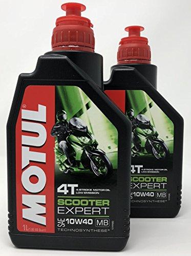 Aceite Moto 4 Tiempos - Motul Scooter 4T 10W-40 MB, 2 litros (2 x 1 lt): Amazon.es: Coche y moto