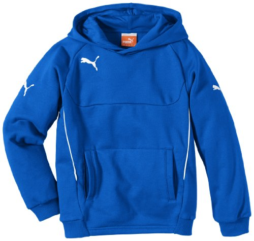 PUMA Kinder Pullover Hoody, royal-white, 128, 653979 02