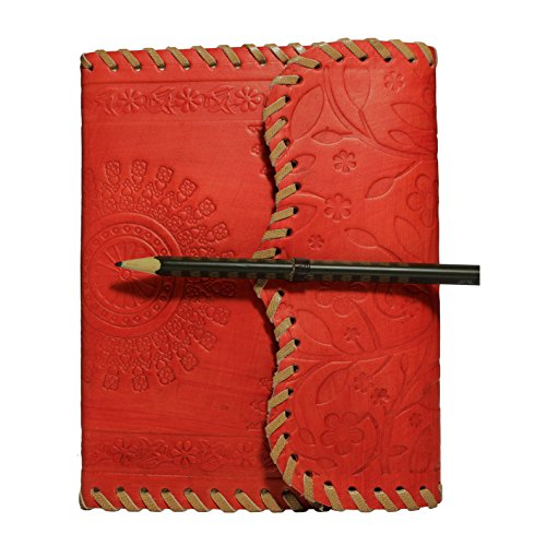 Handmade Leather Journal Diary Notebook Personal Travel Journal Organizer Recipe Book With Strap Lock 7 x 5 Inches Birthday Housewarming Anniversary G…