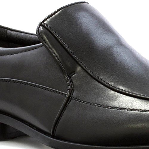 BECKETT CORP. Beckett Mens Black Tramline Slip On Formal Shoe Black WUefdo