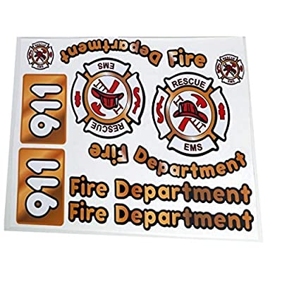 The Toy Restore Outdoor Replacement Decals Fire Firetruck to fit DIY Little Tikes Step2 Ride-on Car Truck Toys: Toys & Games