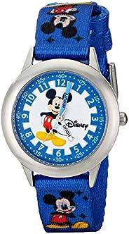 Disney Kids' W000022 Mickey Mouse Stainless Steel Time Teacher W