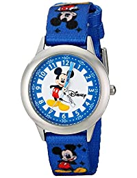 Disney Kids' W000022 Mickey Mouse Stainless Steel Time Teacher Watch