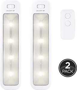 GE Wireless LED Bars, 2 Pack, Remote Controlled, 70 Lumens Each, Soft White, Battery Operated, No Wiring, Easy to Install, Add Light Where You Need It Most, 40195